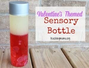 Valentine's Themed Sensory Bottle