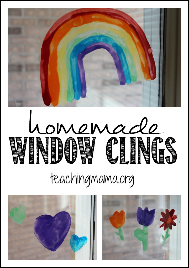 Homemade Window Clings