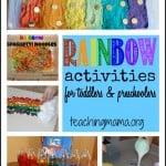 5 Rainbow Activities for Preschoolers