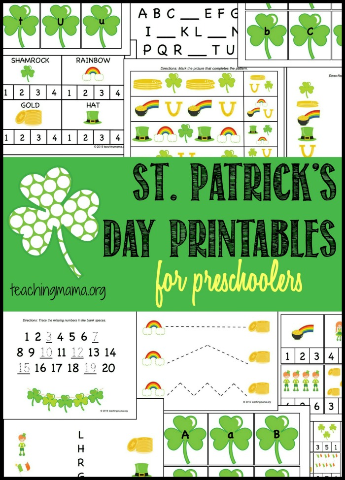 St. Patrick's Day Printables For Preschoolers