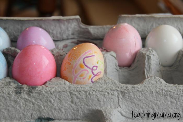 regular dye eggs