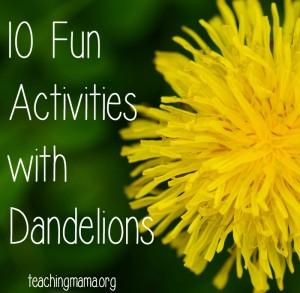 10 Fun Activities with Dandelions