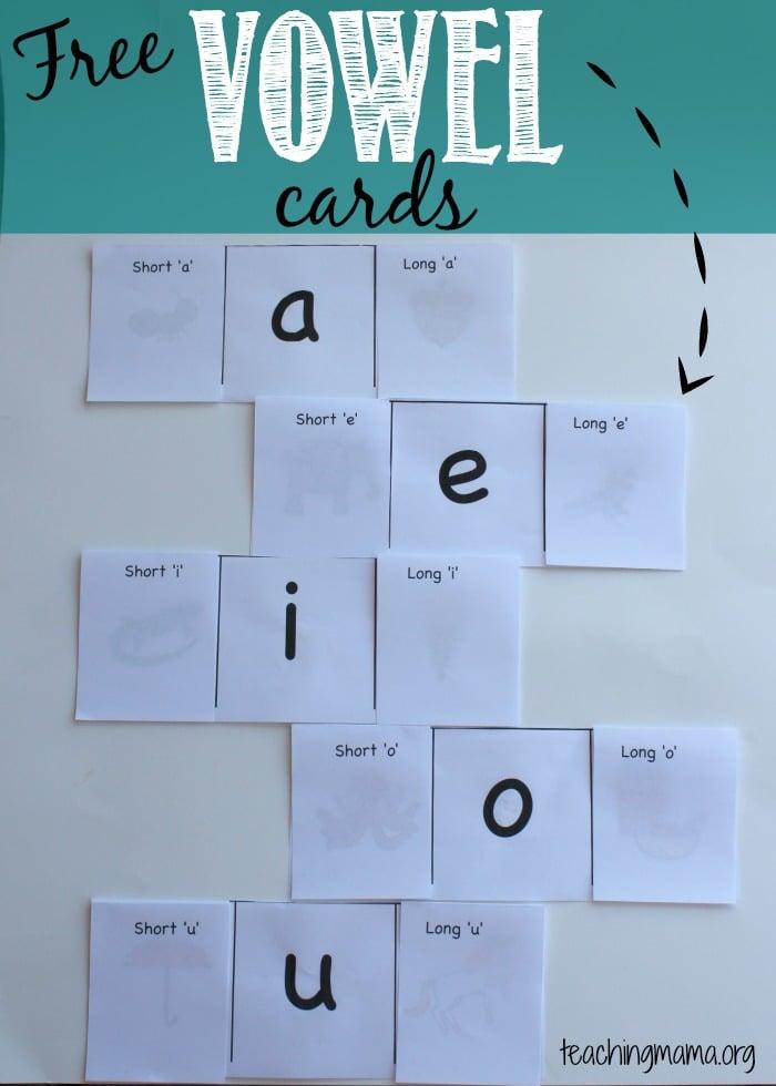 Free Vowel Cards