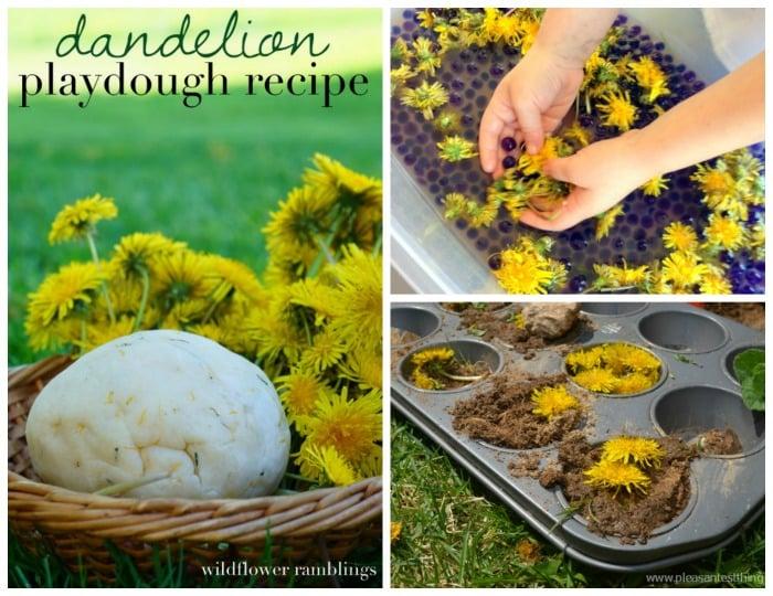 dandelion sensory play