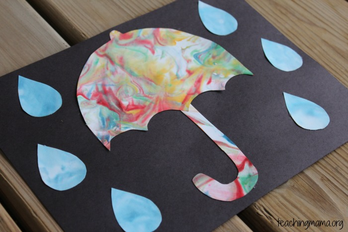 Rainy Day Umbrella Craft – Umbrella Template