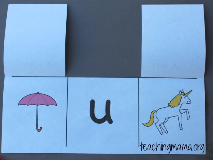 vowel card - u