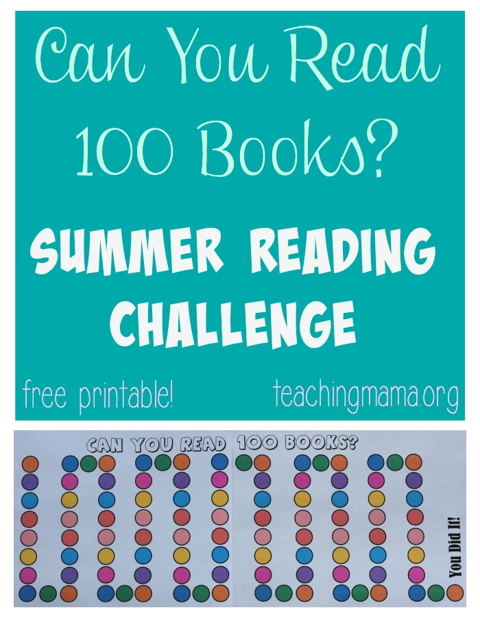 100 Books Summer Reading Challenge