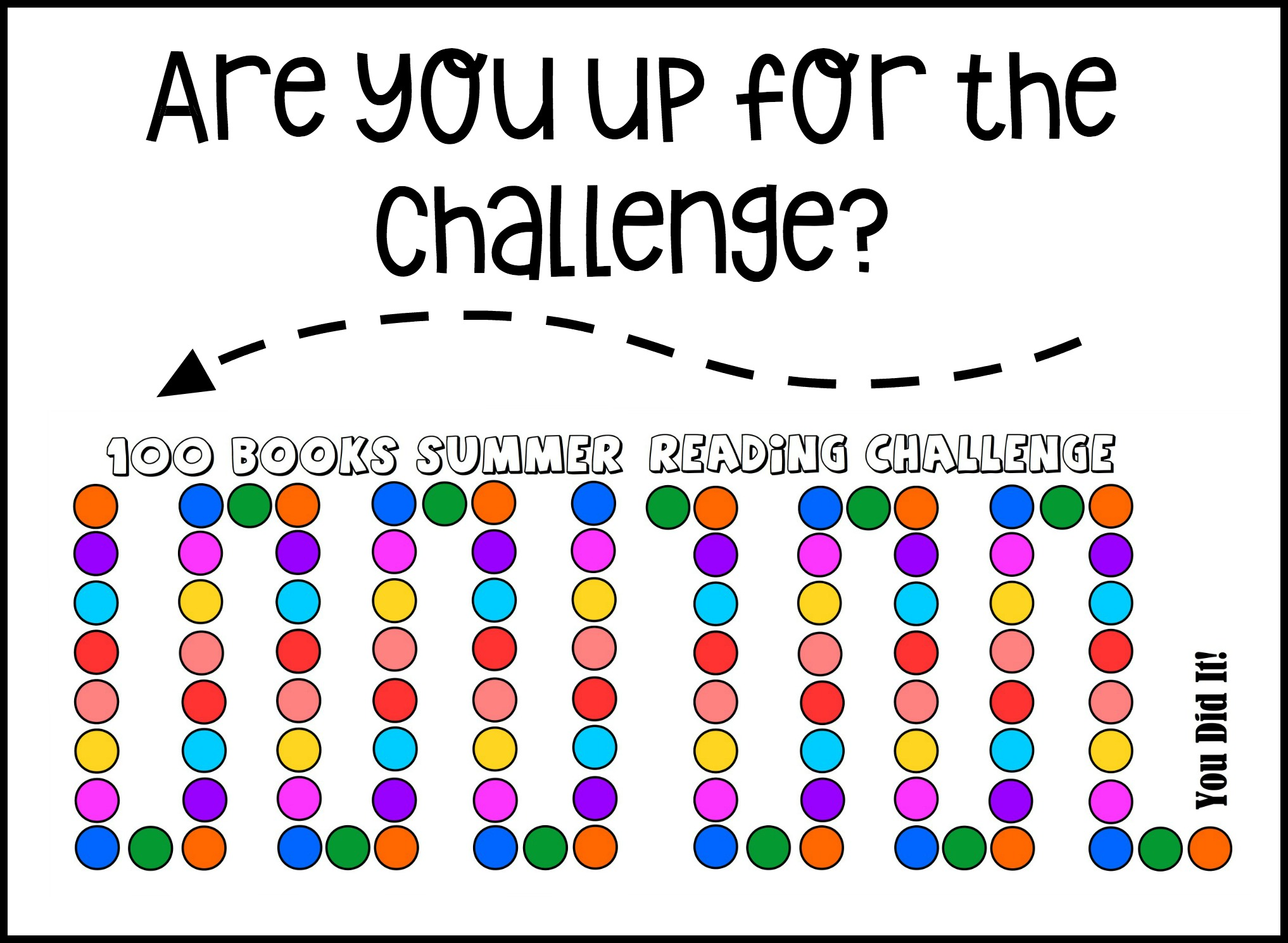 On This Chart There Are 100 Colored Circles After We Read A Book Together Will Either Put Sticker The Circle Mark It With An X