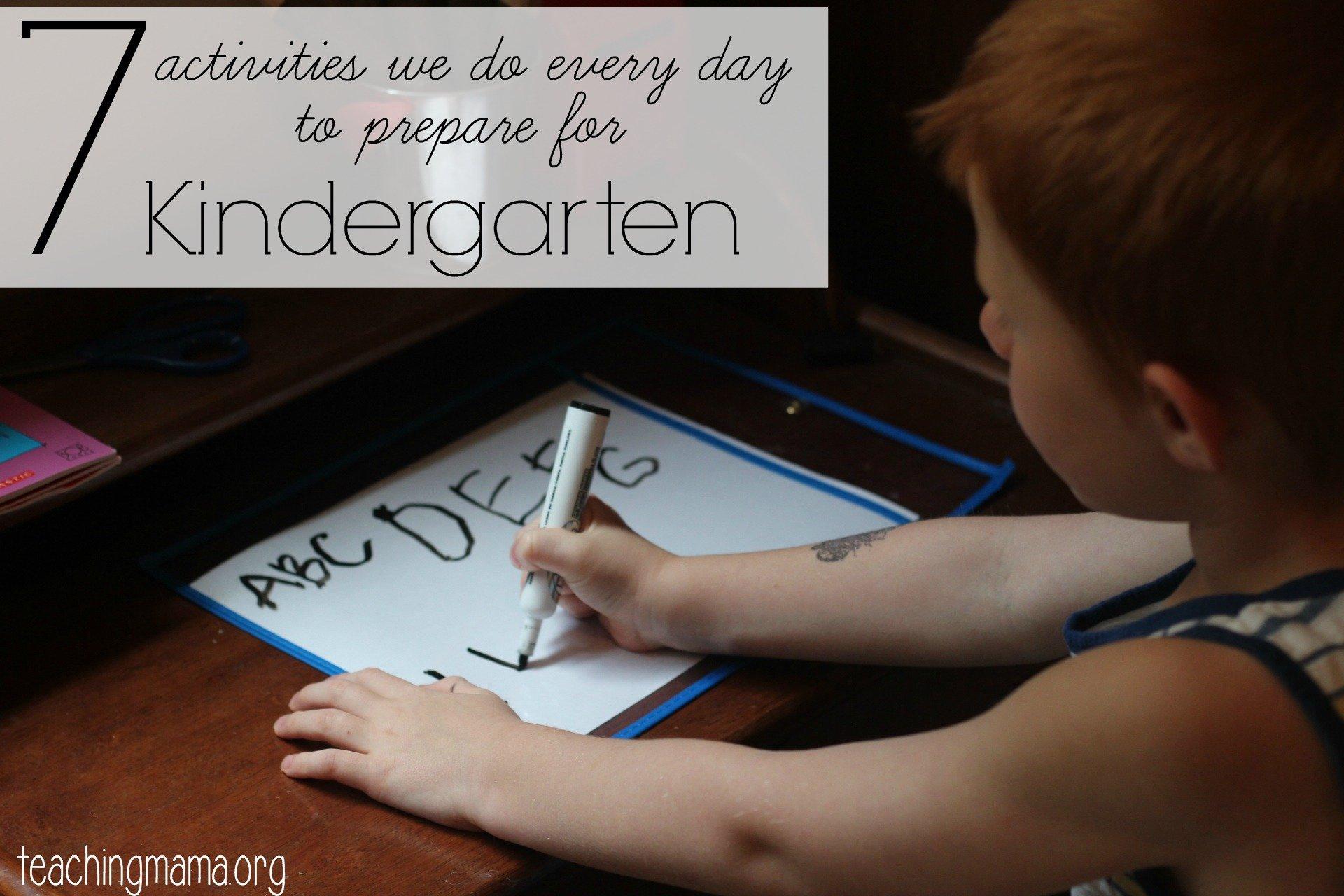 7 Activities We Do to Prepare for Kindergarten