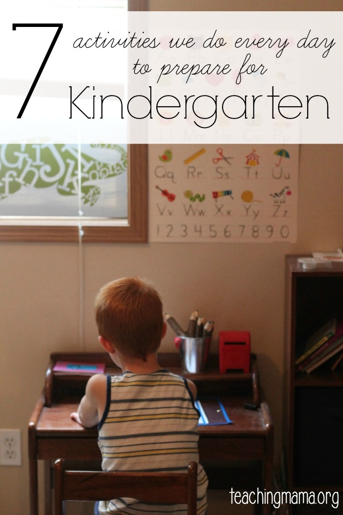 7 Activities to Prepare for Kindergarten