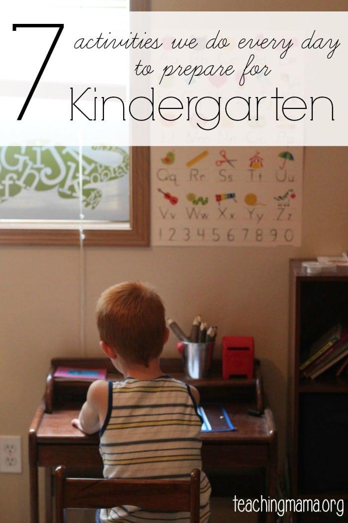 7 Activities to Prepare for Kindergarten