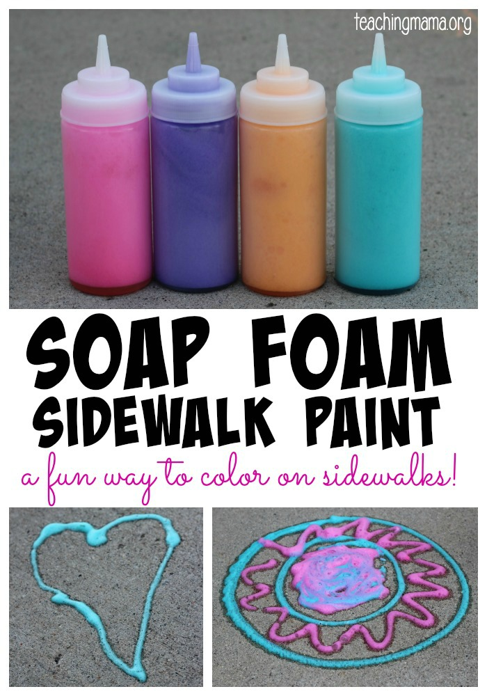 Soap Foam Sidewalk Paint