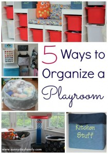playroom organize