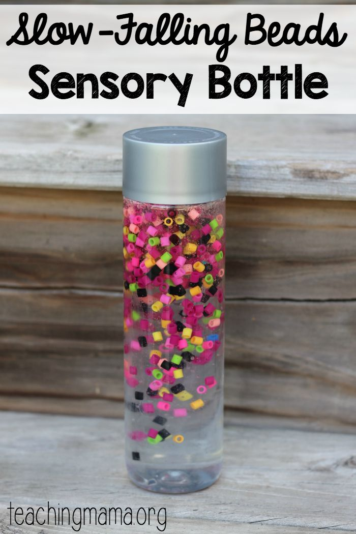 Slow Falling Beads Sensory Bottle