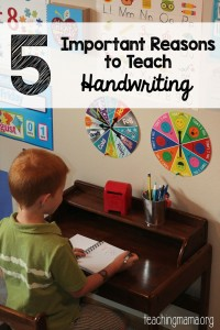 5 Important Reasons to Teach Handwriting