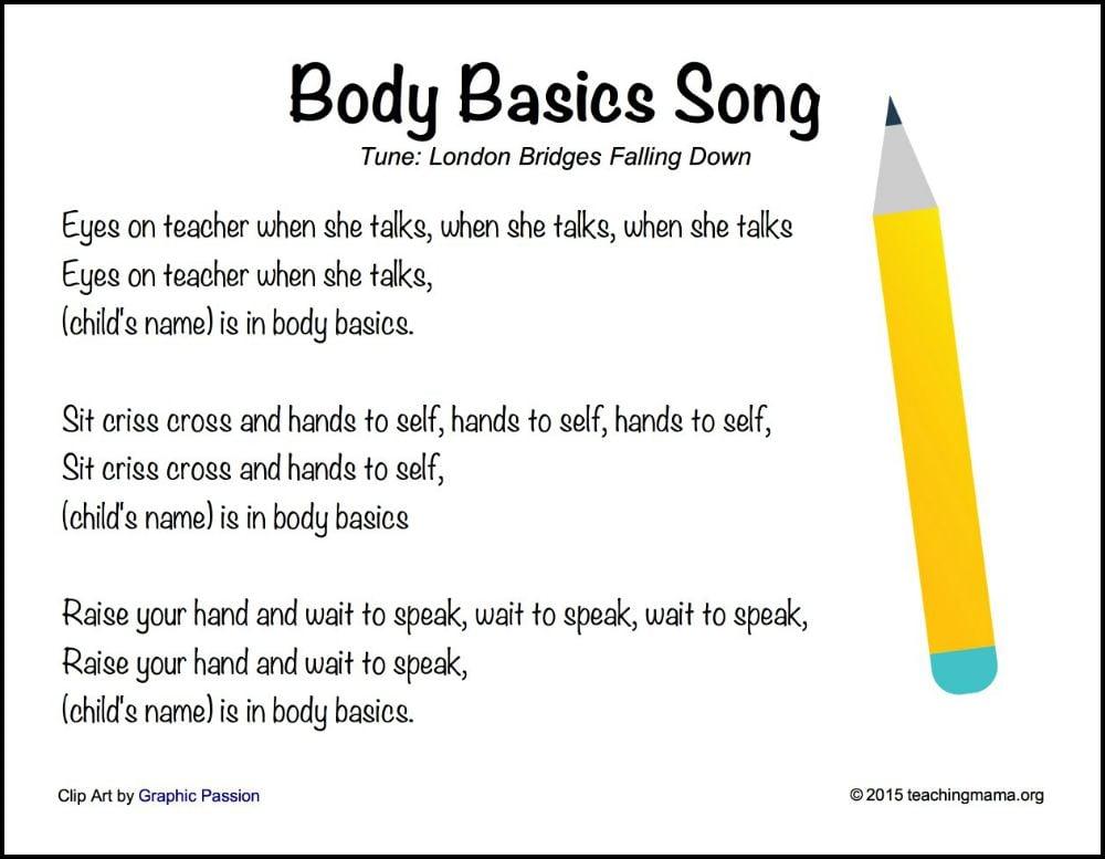 Body Basics Song