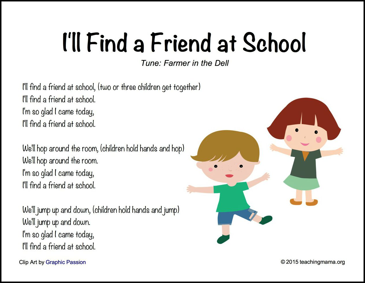 I'll Find a Friend at School