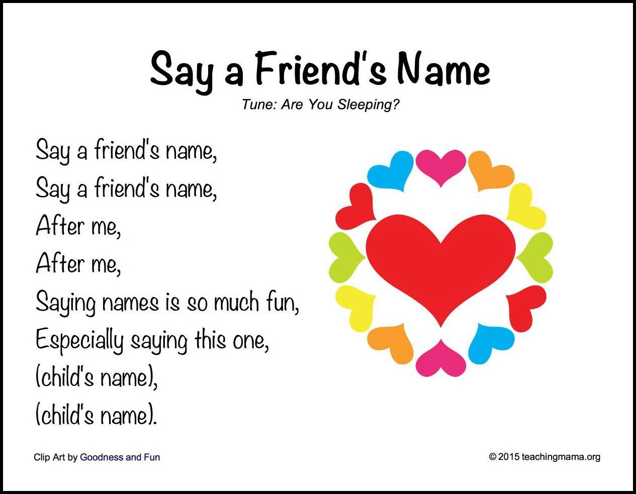 Say a Friend's Name