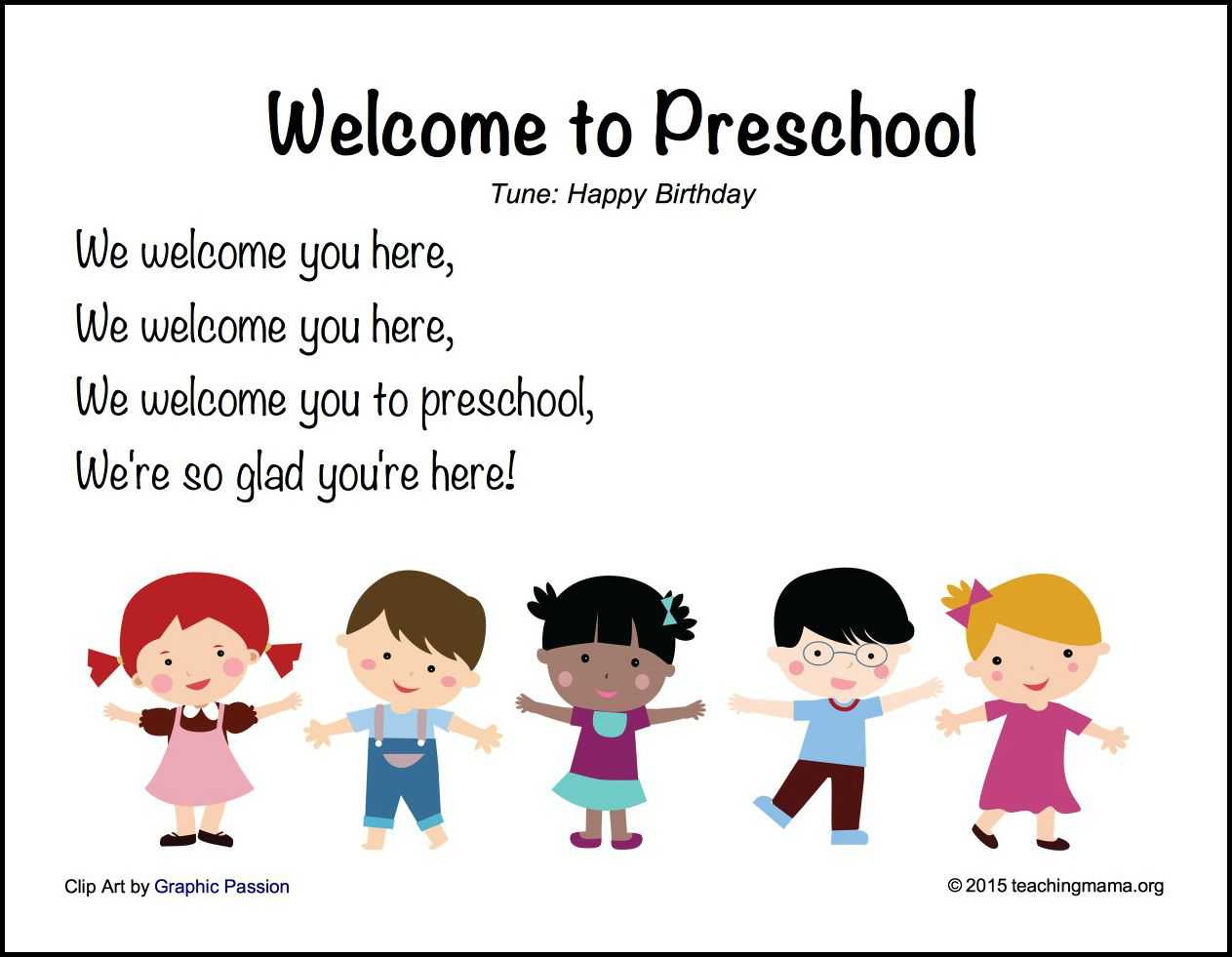 Welcome to Preschool
