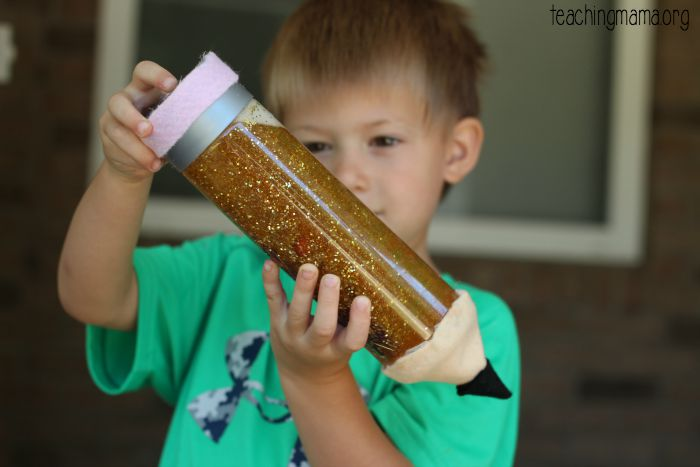 pencil sensory bottle
