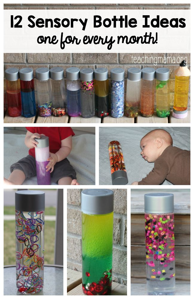 12 Sensory Bottle Ideas One For Every Month Teaching Mama