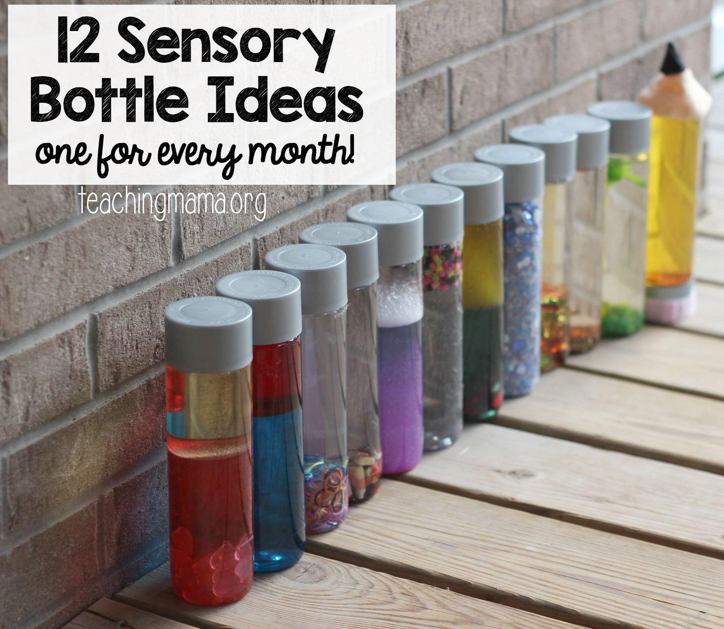 12 sensory bottle ideas