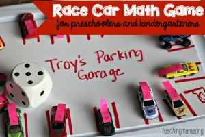 Math Game with Race Cars