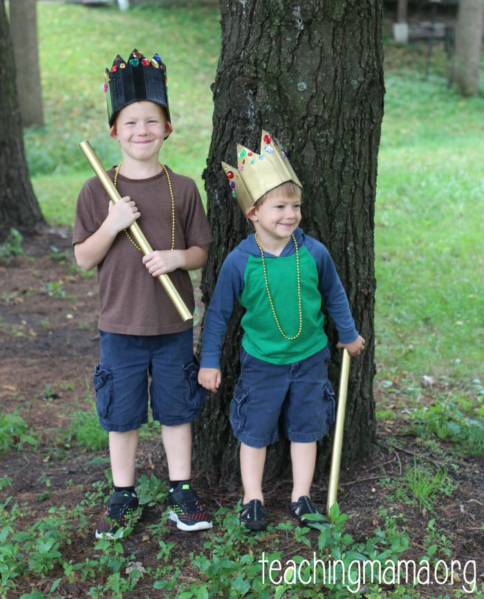 kings dramatic play activity