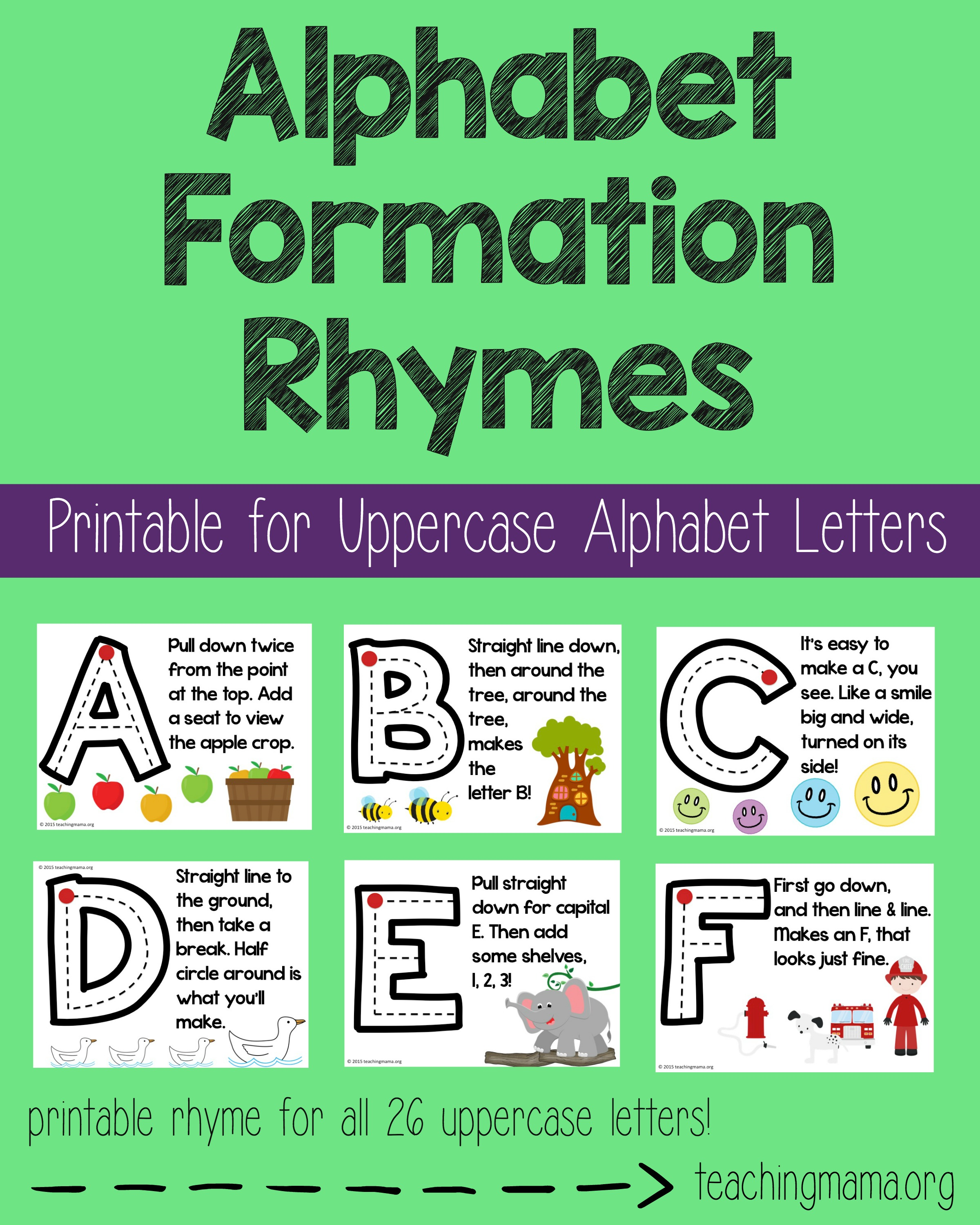 Alphabet Formation Rhymes- Pin