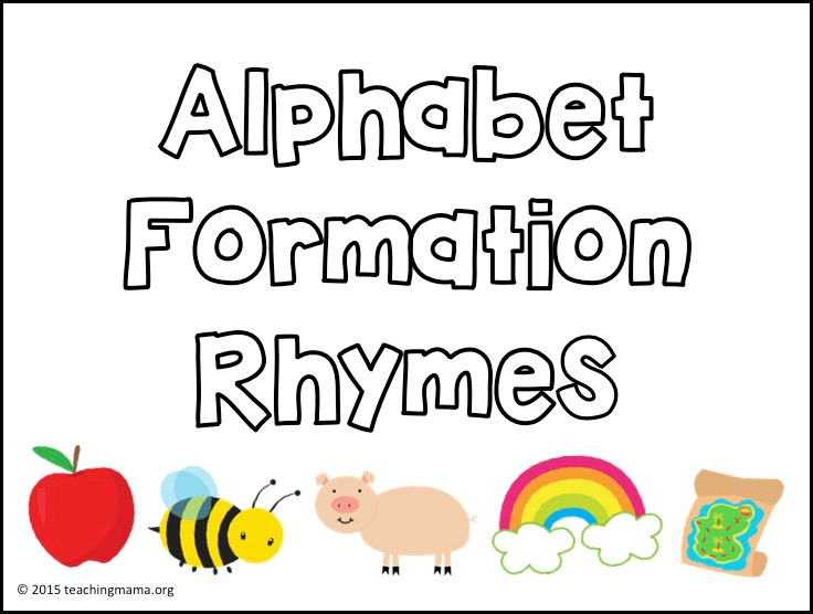 Alphabet Formation Rhymes on lowercase alphabet formation rhymes