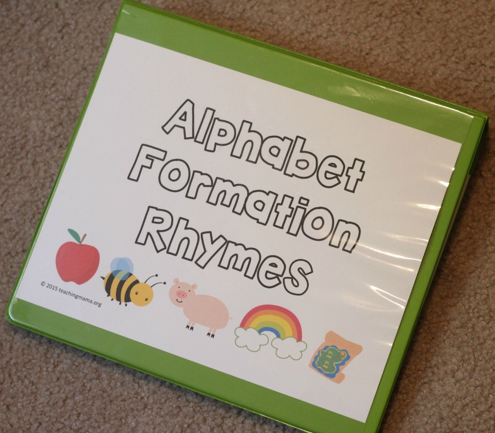 Alphabet formation rhymes i had my preschooler use his finger to practice tracing the letters first spiritdancerdesigns Images