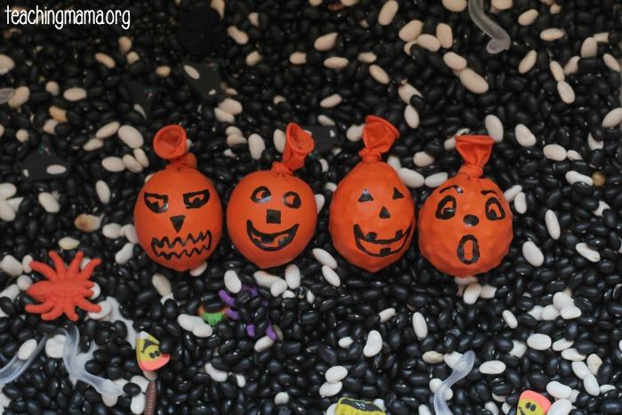 pumpkin sensory balloon bags