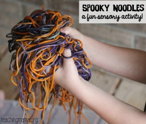 Spooky Noodles Sensory Activity