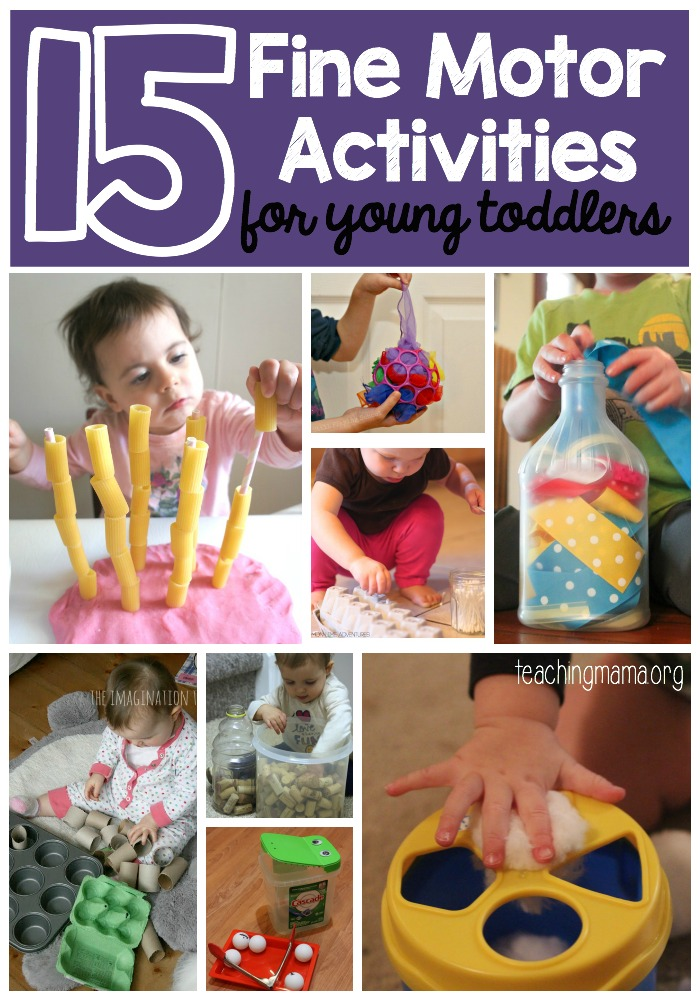 15 Fine Motor Activities for Toddlers