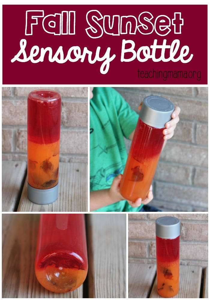 Fall Sunset Sensory Bottle Pin
