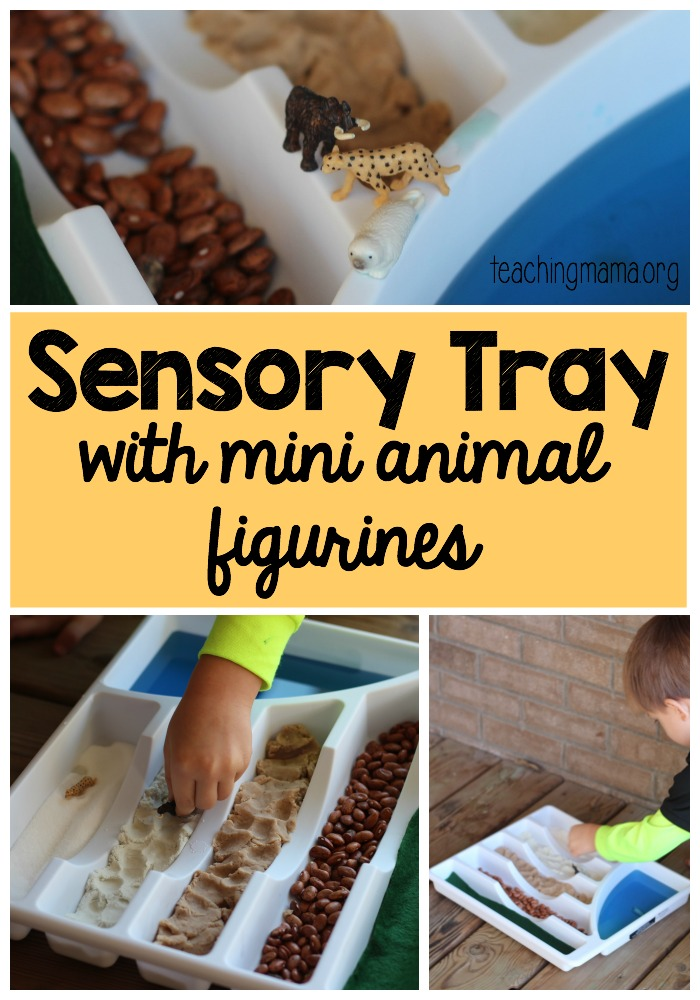 Sensory Tray with Mini Animals