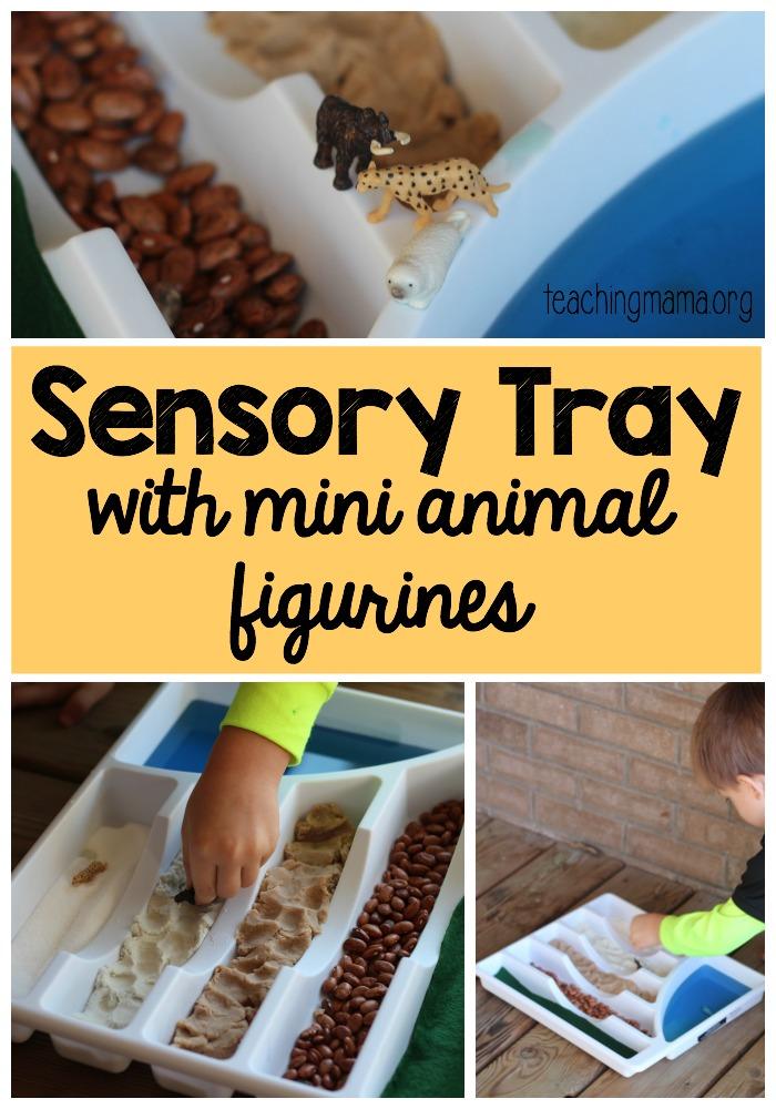 Sensory Tray with Mini Animals
