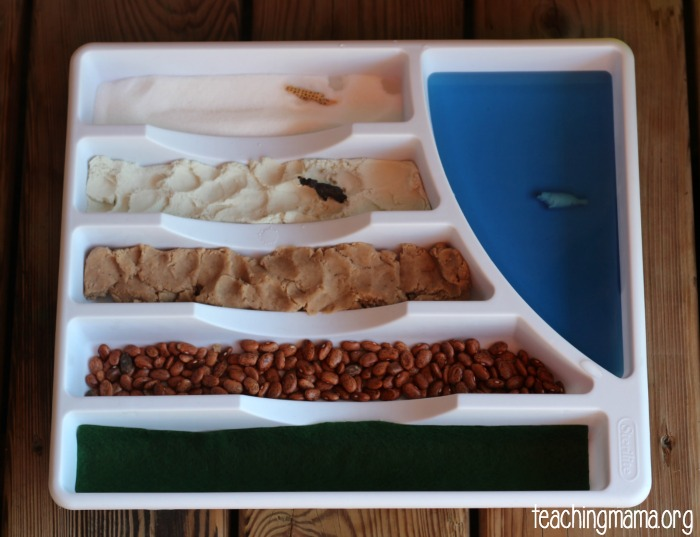 mini sensory bin invitation