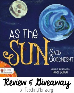 As the Sun Said Goodnight {Book Review & Giveaway!}