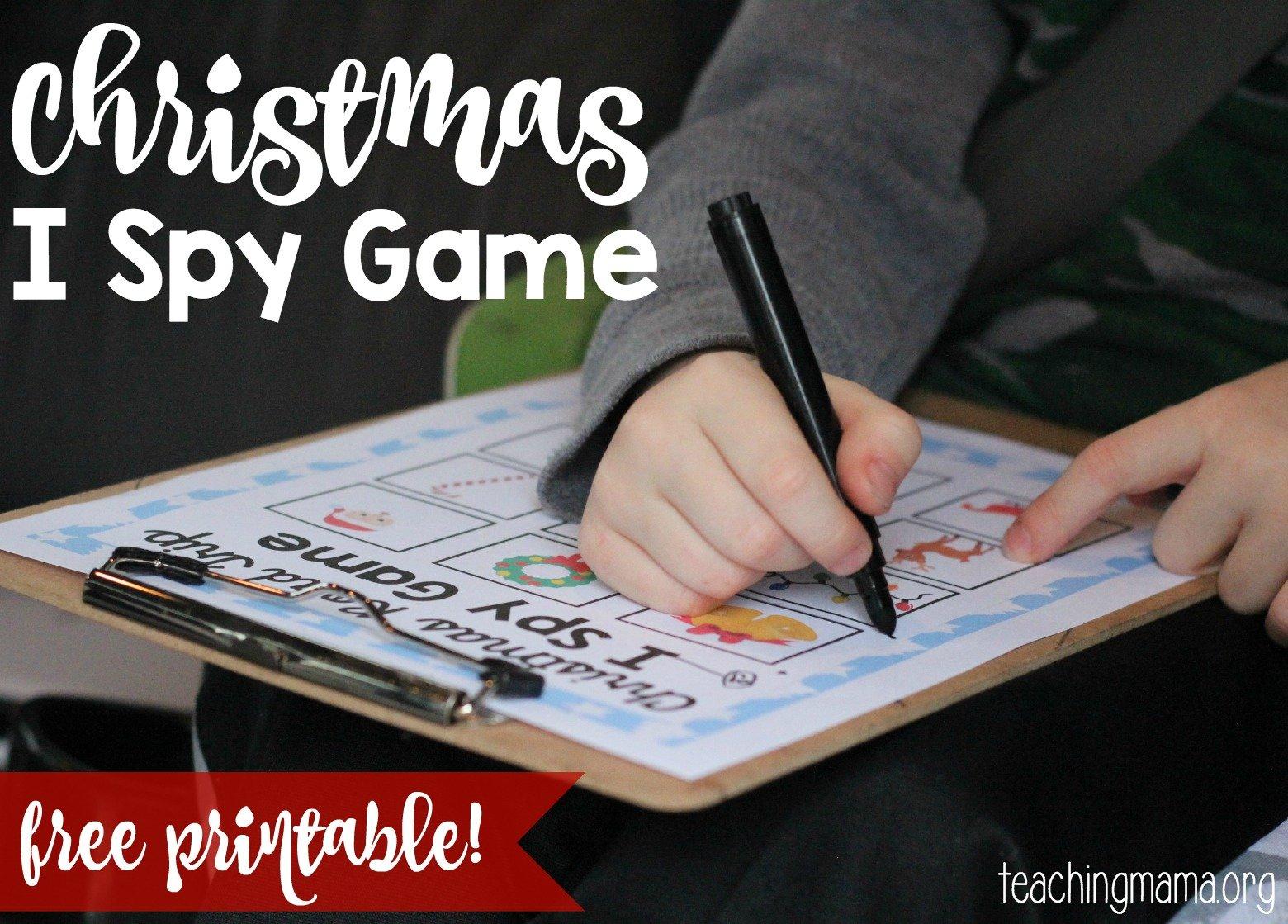 Christmas Road Trip I Spy Game - Teaching Mama