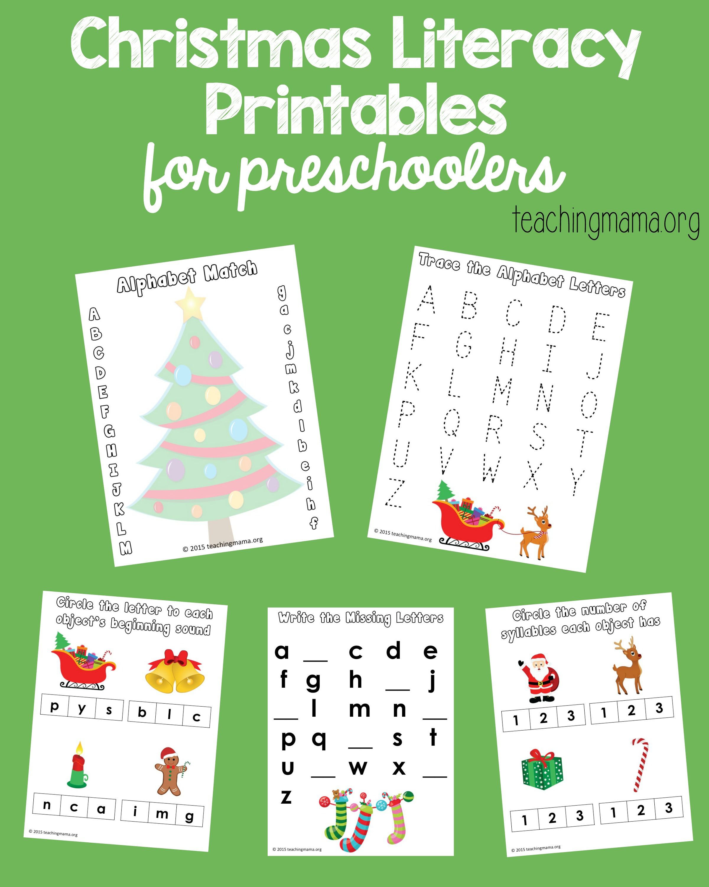 Tracing Worksheets Free Preschool Christmas. Tracing. Best Free ...