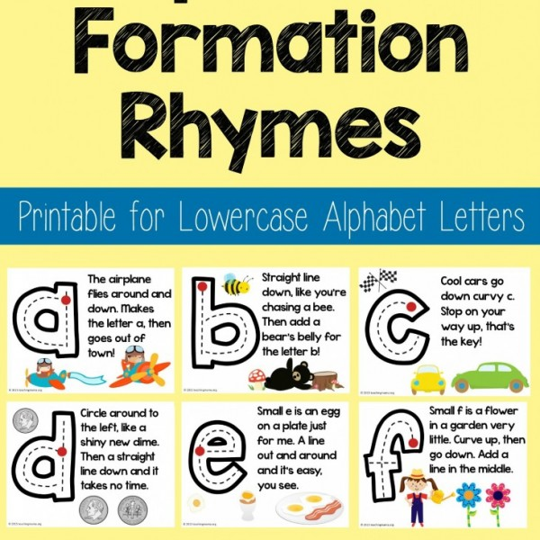 letter formation rhymes lowercase alphabet formation rhymes teaching 22836 | Lowercase Alphabet Formation Rhymes 731x1024 1 600x600