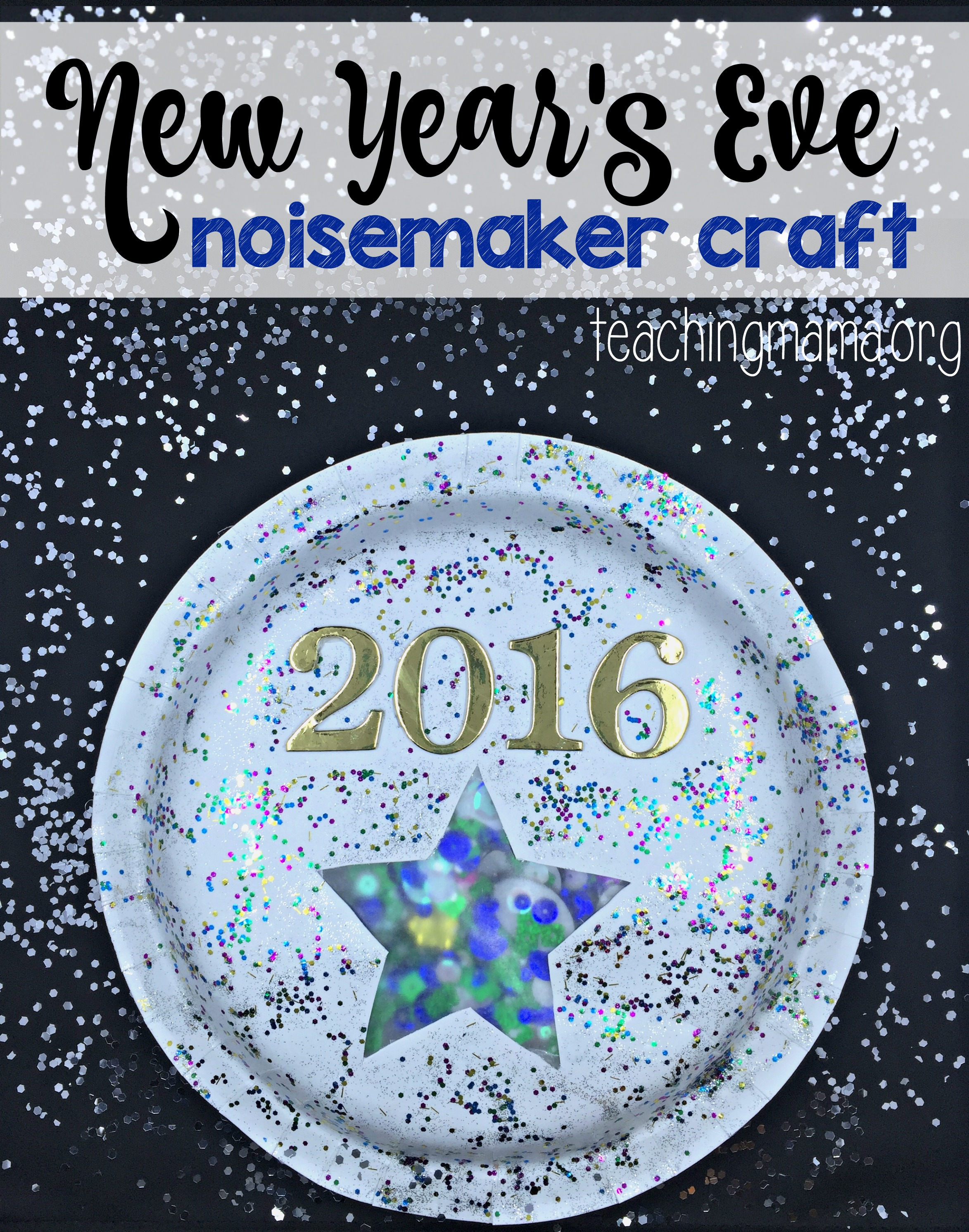 New Years Time Capsule Printable Questionnaire For Kids: New Year's Eve Noisemaker Craft