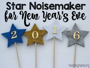 Star Noisemaker for New Year's Eve