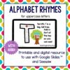 alphabet rhymes as a digital resource