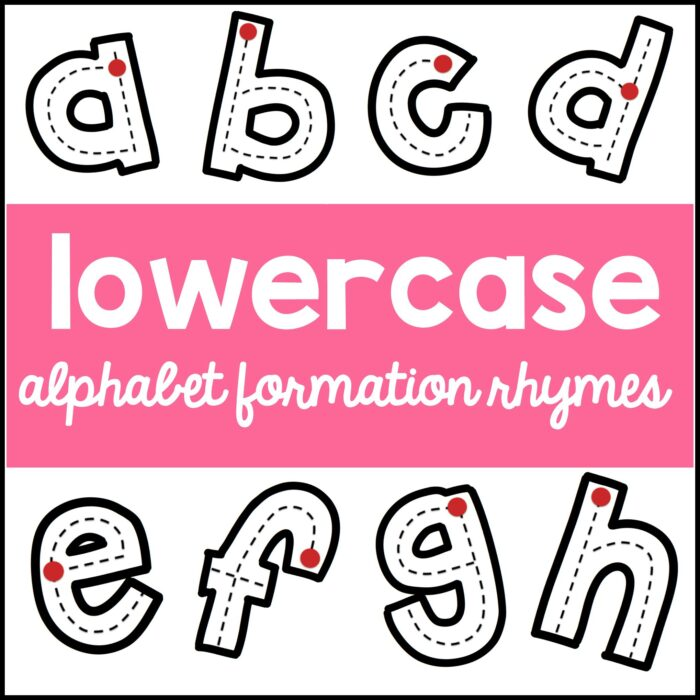 lowercase letters