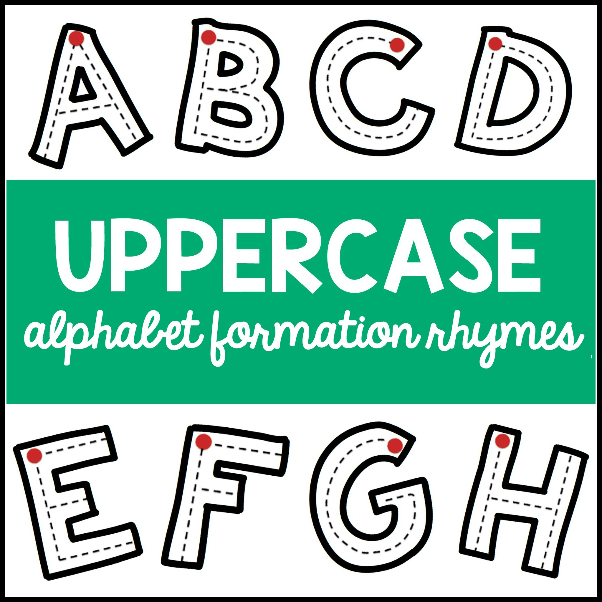 Uppercase Alphabet Formation Rhymes Teaching Mama