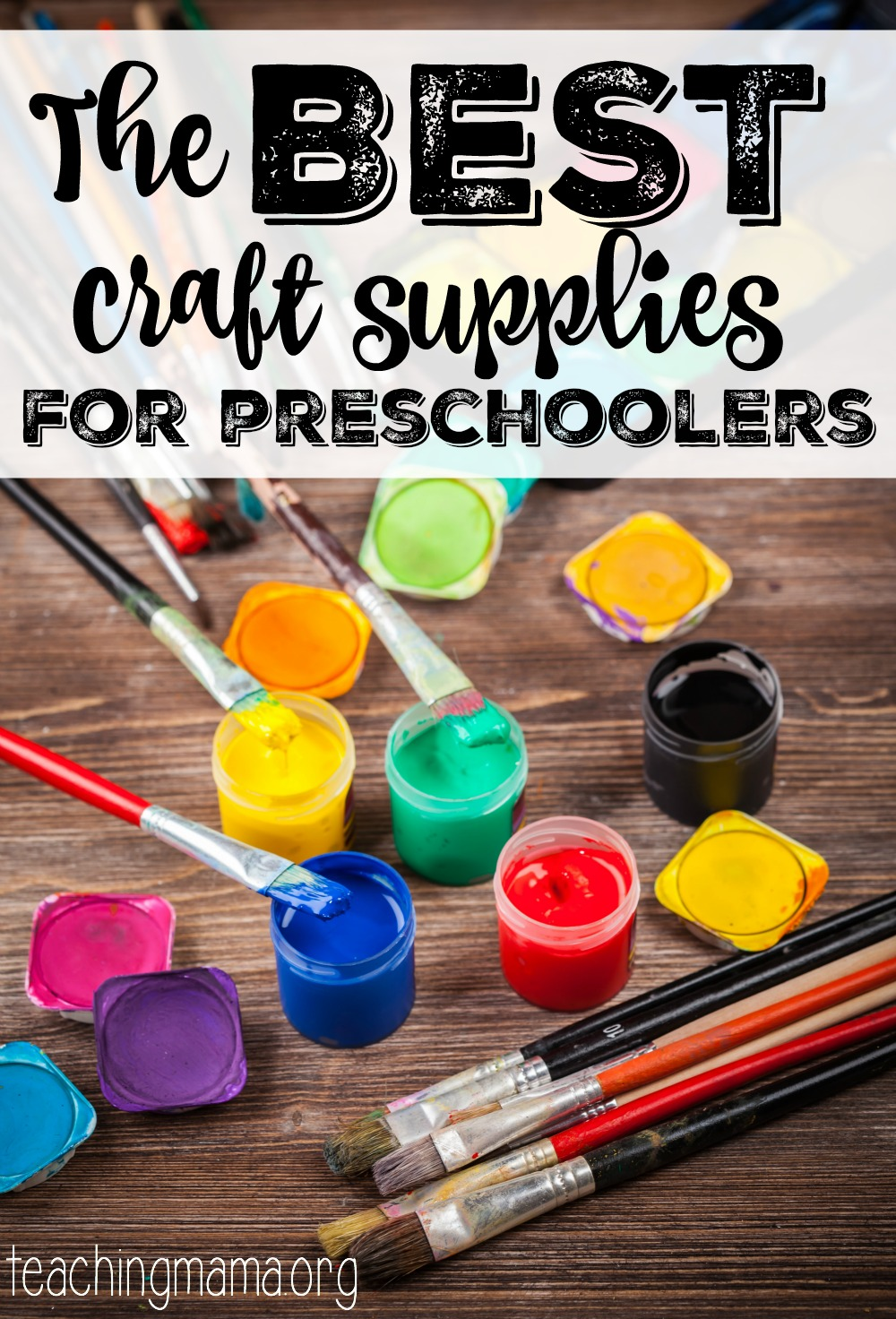 the best craft supplies for preschoolers teaching mama