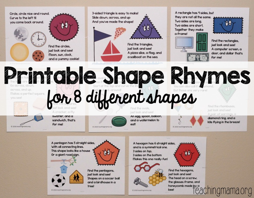 Printable Shape Rhymes Posters
