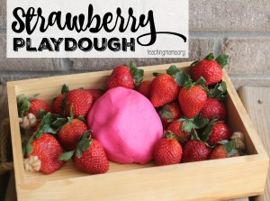 Strawberry Playdough Recipe